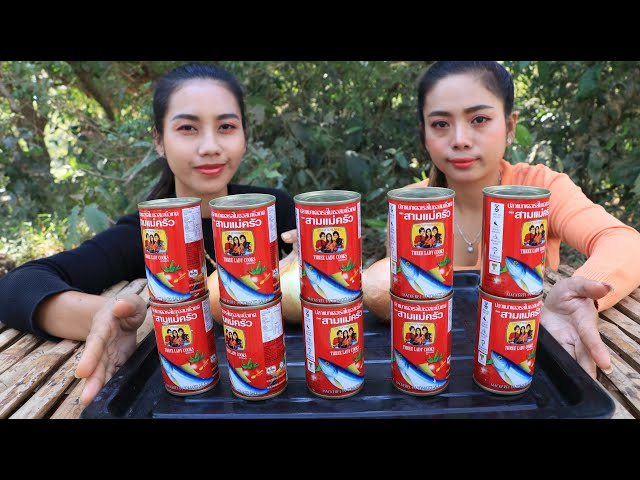 How to cook canned sardines stir-fry with rice recipe in forest