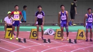 第70回国民体育大会陸上競技石川県予選会少年男子B100m決勝