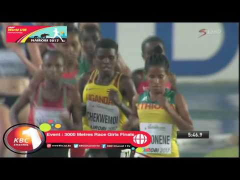 Ethiopia wins gold, Kenya wins Silver in 3000M Girls  race finals.