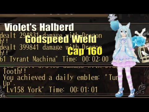 [Toram Online] Craziest Dps Ever - Ultimate Boss Slayer. Halberd Godspeed Wield rebuild cap 160.
