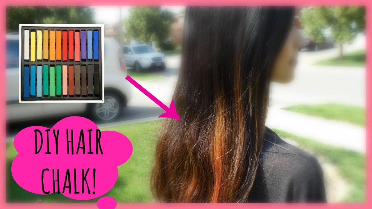Diy Hair Chalk