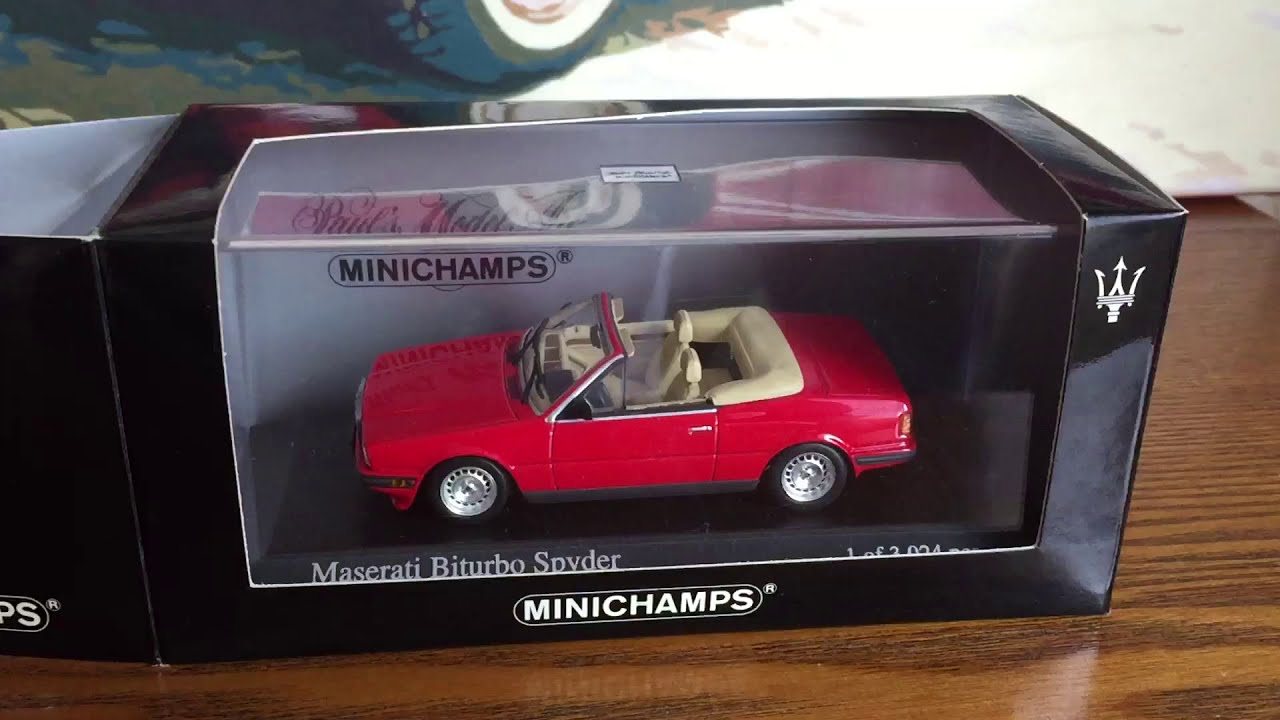Minichamps 1:43 Maserati Biturbo Spyder-Red