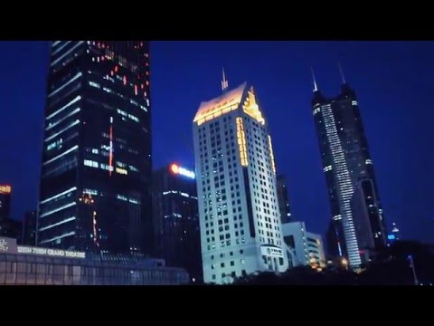 the Best of China - Shenzhen - the vivid night light & life in the financial district