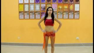 Урок восточного танца. Восьмерка бедрами. Анастасия Максименко.