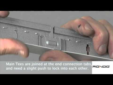 How To Install Rondo Duo Exposed Grid Ceiling System