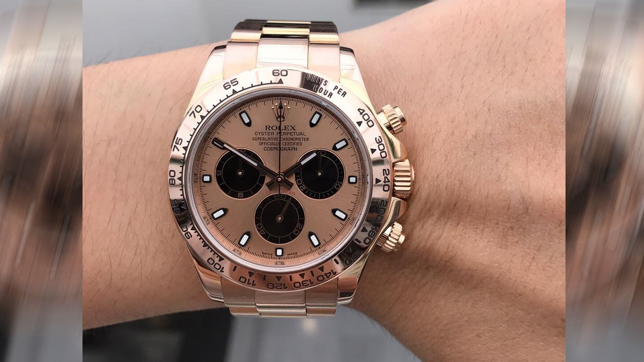 Rolex Cosmograph Daytona 116505 Pink And Black Dial 40 Mm Everose