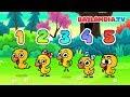 Pięć małych kaczątek - Nauka liczenia - Piosenka dla dzieci - Bajlandia.tv