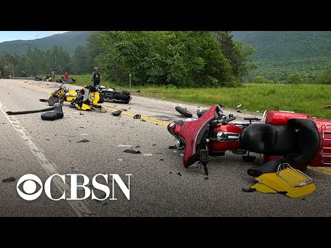Seven dead in crash of motorcycles, truck in New Hampshire