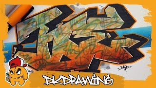 How to draw graffiti names - Joe #24(Etsy: https://www.etsy.com/de/shop/DKDrawing The new season has started. At this season i show you how to draw names in graffiti step by step. Do u want to a ..., 2016-07-09T17:00:01.000Z)
