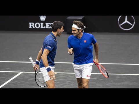 The day when Federer and Djokovic played together(doubles)   Laver Cup 2018 Full Highlights