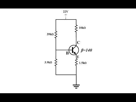 Elektronik Ders 32 BJT Transistör Voltaj Bölücü (Voltage Divider) DC Analizi-Exact Way with Thevenin