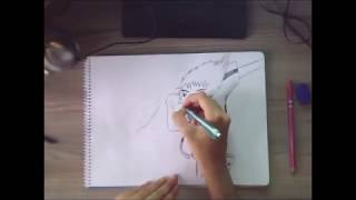 eski bir anime kaptan tsubasa/speed drawing