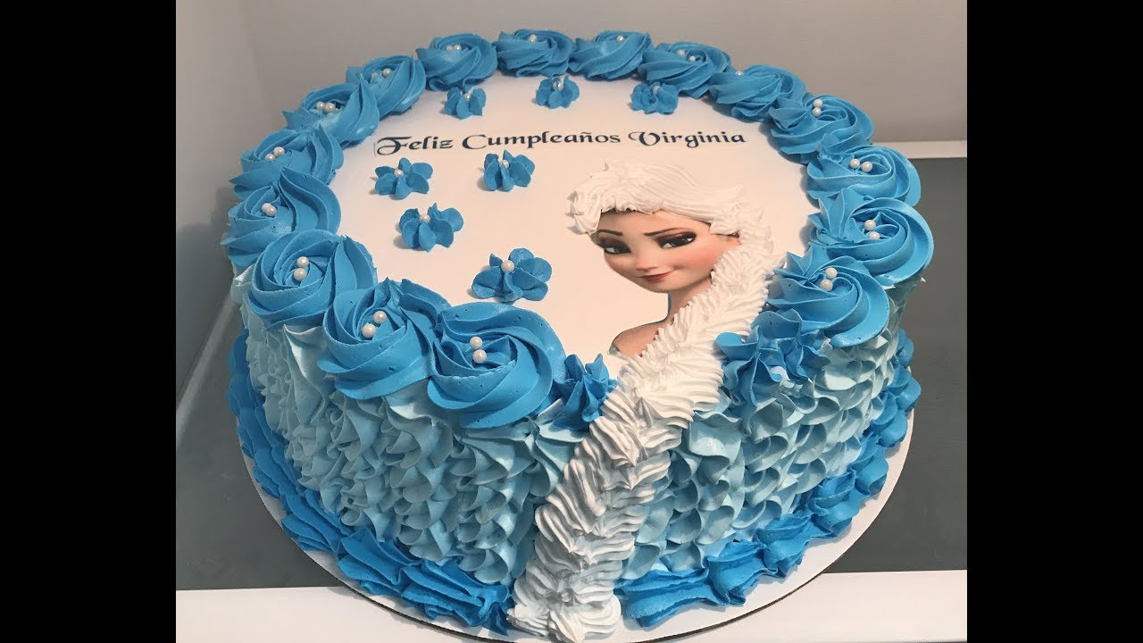 Como rellenar y decorar un pastel de frozen youtube for Como decorar un bizcocho