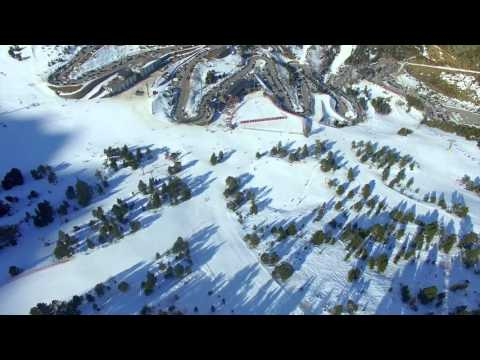 Andorra Ski Resort Aerial View