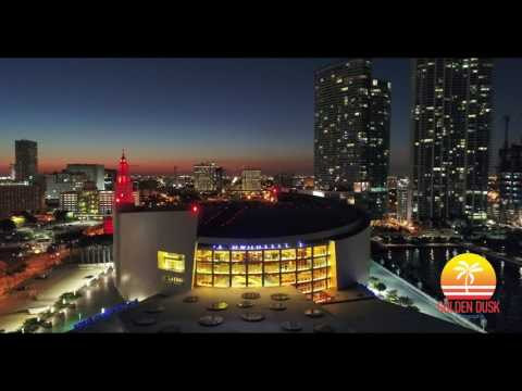 American Airlines Arena at Dusk 4K