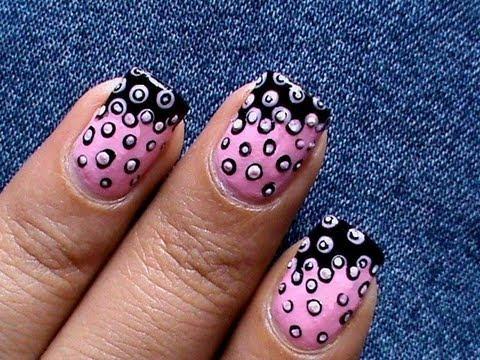cute nail polish design - easy