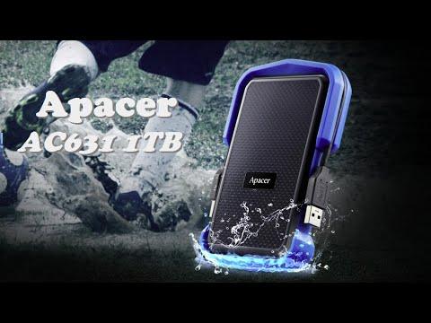 """Жорсткий диск Apacer AC631 1TB 5400rpm 8MB AP1TBAC631U-1 2.5"""" USB 3.1 External Blue"""