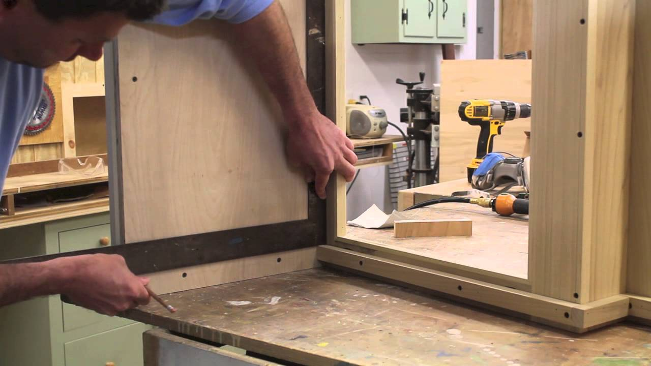 How to Build a Bathroom Vanity Cabinet Part 1 - YouTube