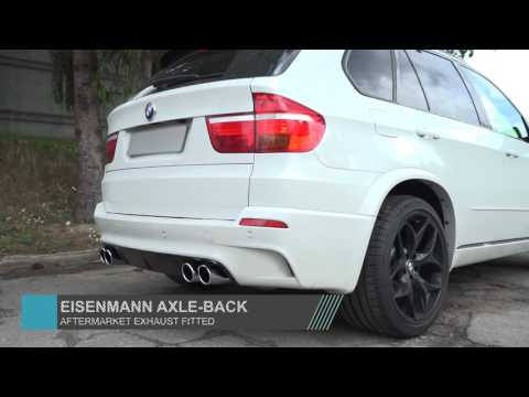 BMW E70 X5 M Eisenmann axle back exhaust sound check