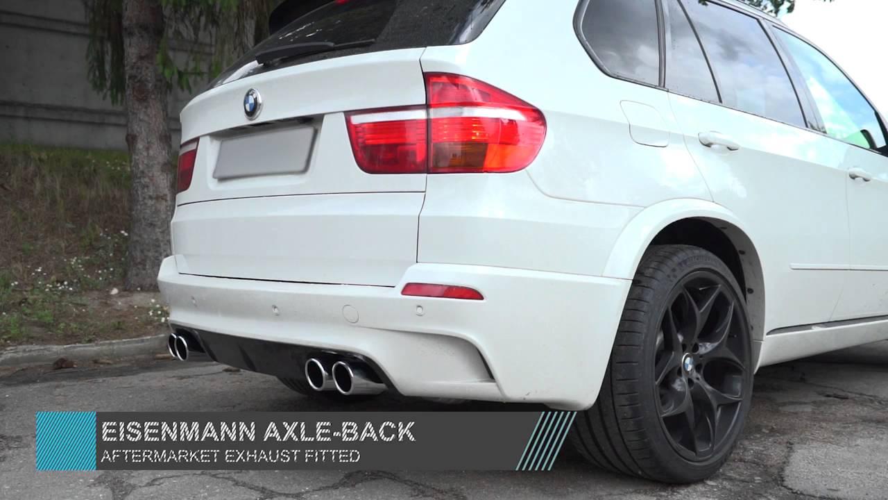 BMW E70 X5 M Eisenmann axle back exhaust sound check