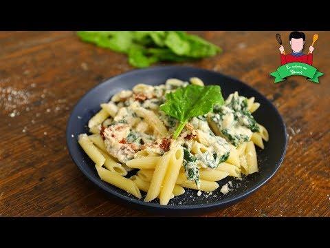 [recette]---pâtes---épinard---ricotta---tomate-séchée-(alla-jeremy--feat-jeremy)