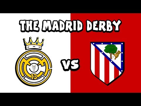 ⚪REAL MADRID vs ATLETICO MADRID🔴 The Cartoon! (442oons Parody)