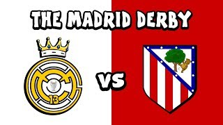⚪REAL MADRID vs ATLETICO MADRID🔴 The Cartoon! (442oons Parody)