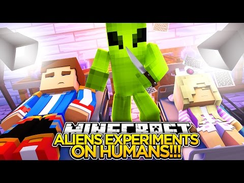 ALIENS EXPERIMENT ON THE HUMAN RACE w/ LITTLE DONNY!!!- Minecraft - Baby Leah Adventures.