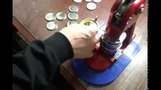Изготовление закатных значков.(Процесс изготовления закатных значков от компании