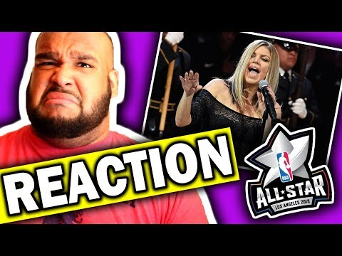 Fergie Performs The National Anthem  2018 NBA All-Star Game REACTION