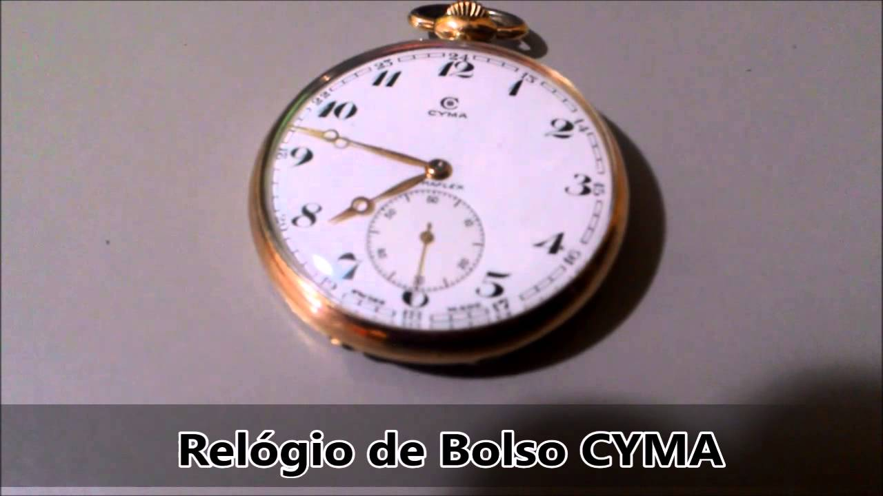 2621152ac43 Relógio de Bolso CYMA - YouTube