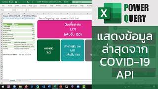 สอน Excel: การดึงข้อมูลผ่าน COVID-19 API มาสร้าง dashboard รายงานสถานการณ์โควิด-19