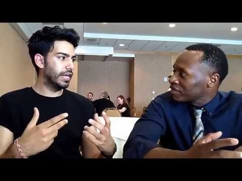 With Rahul Kohli & Malcolm Goodwin of iZombie at ComicCon 2014