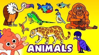 Learn Zoo Animals For Kids | Wild Zoo Animal Names and Sounds for Children | Club Baboo
