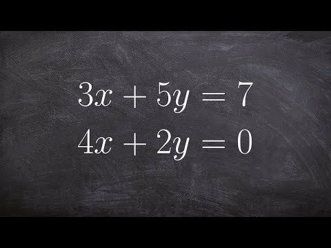 How To Solve A System Of Equation Using Elimination