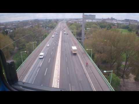 Top View on Koln from Cable Car ( Kölner Seilbahn)