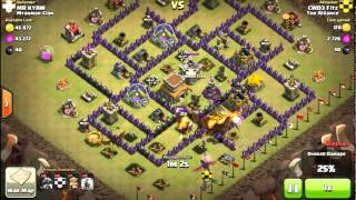 Clash of Clans- CWO3's Perfect use of Lightning Spells- War 11OCT