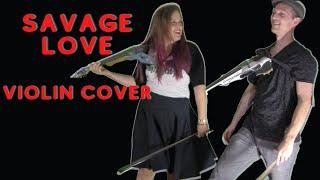 savage love violin cover [ariella zeitlin & asher laub]