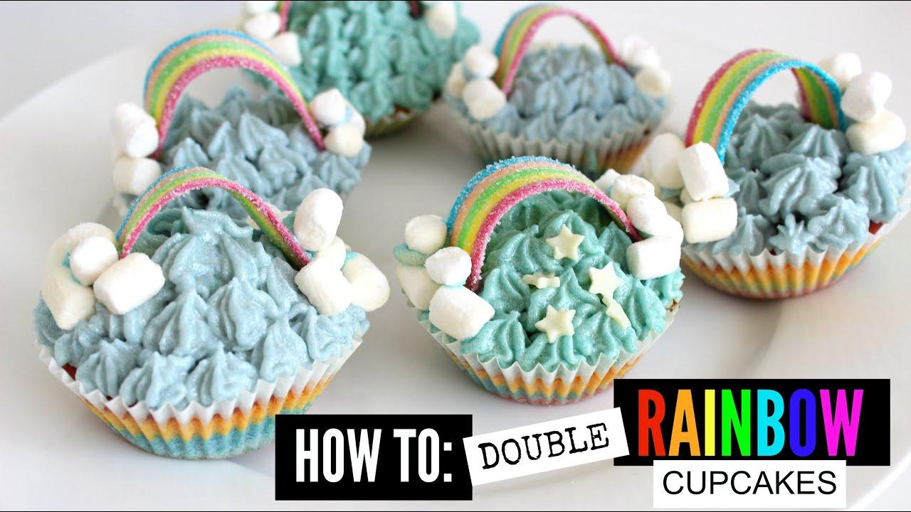 Double Rainbow Cupcakes Recipes — Dishmaps
