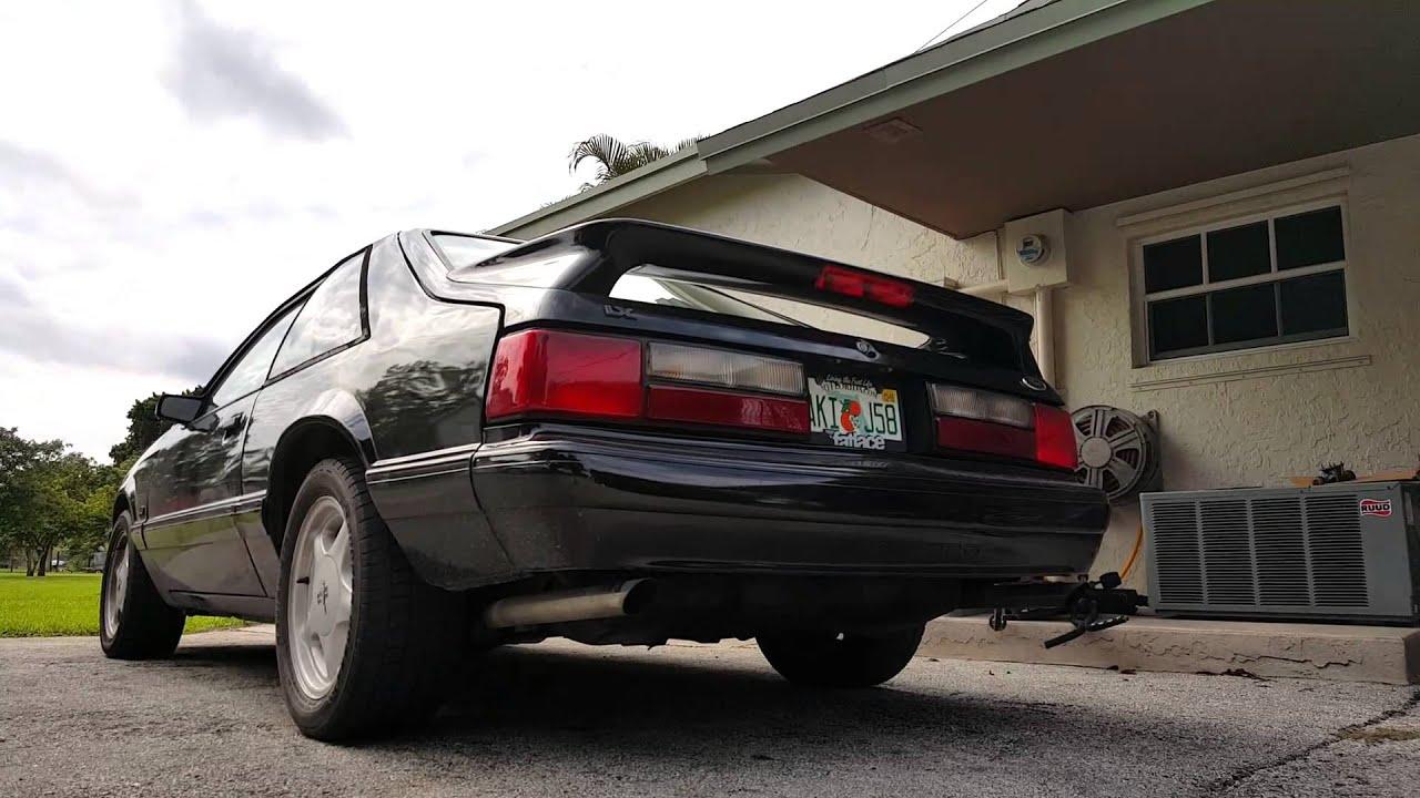 1993 mustang lx BBK/Flowmaster exhaust - YouTube