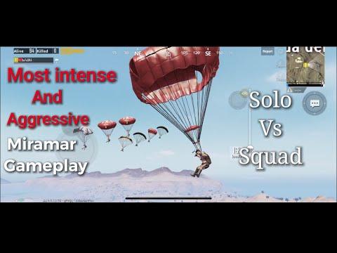 Solo Vs Squad | Most Intense And Aggressive Miramar Gameplay | Pubg Mobile