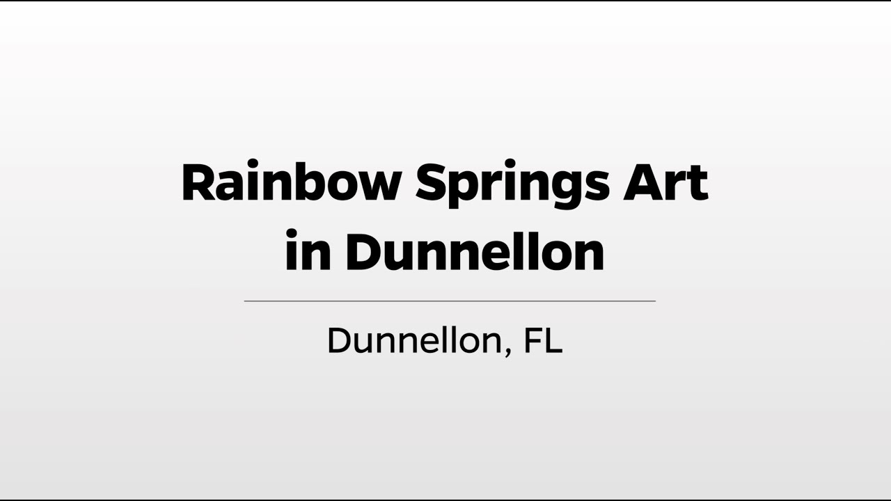 Download Rainbow Springs Art in Dunnellon - WUFT's Greater Good