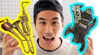 Tracking down the weirdest instruments in the world | Andrew Huang