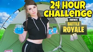 24 HOUR FORTNITE CHALLENGE IN REAL LIFE!