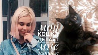 Кошка выбирает чем мне краситься?!🙀VF🙀