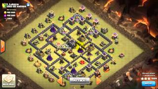 Clash Of Clans - Attack strategy GoVaHo TH9 ( BAHASA INDONESIA ) Attack 1