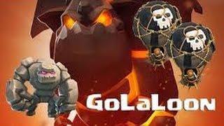 GOMOBAL - GOLALOON Technique d'attaque hybride GDC 3 étoiles HDV 9- HDV 10 - Clash Of Clans