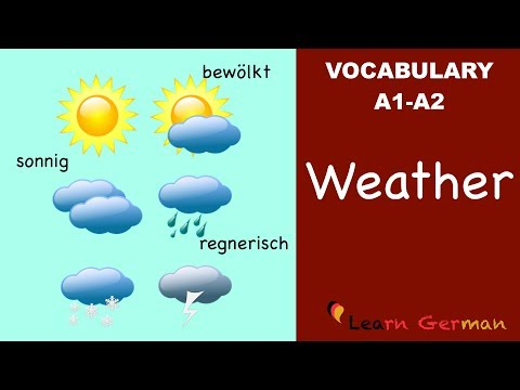 Learn German Vocabulary - Weather In German (Wetter)