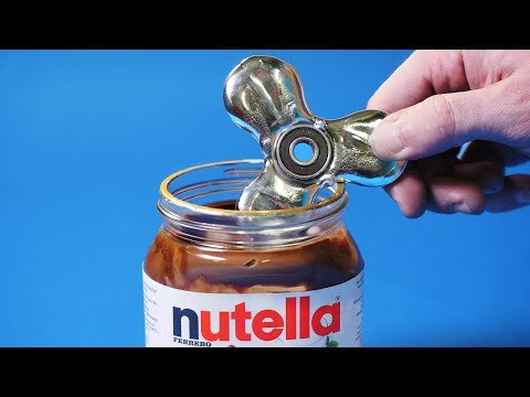 Thumbnail: EXPERIMENT Fidget Spinner VS Nutella