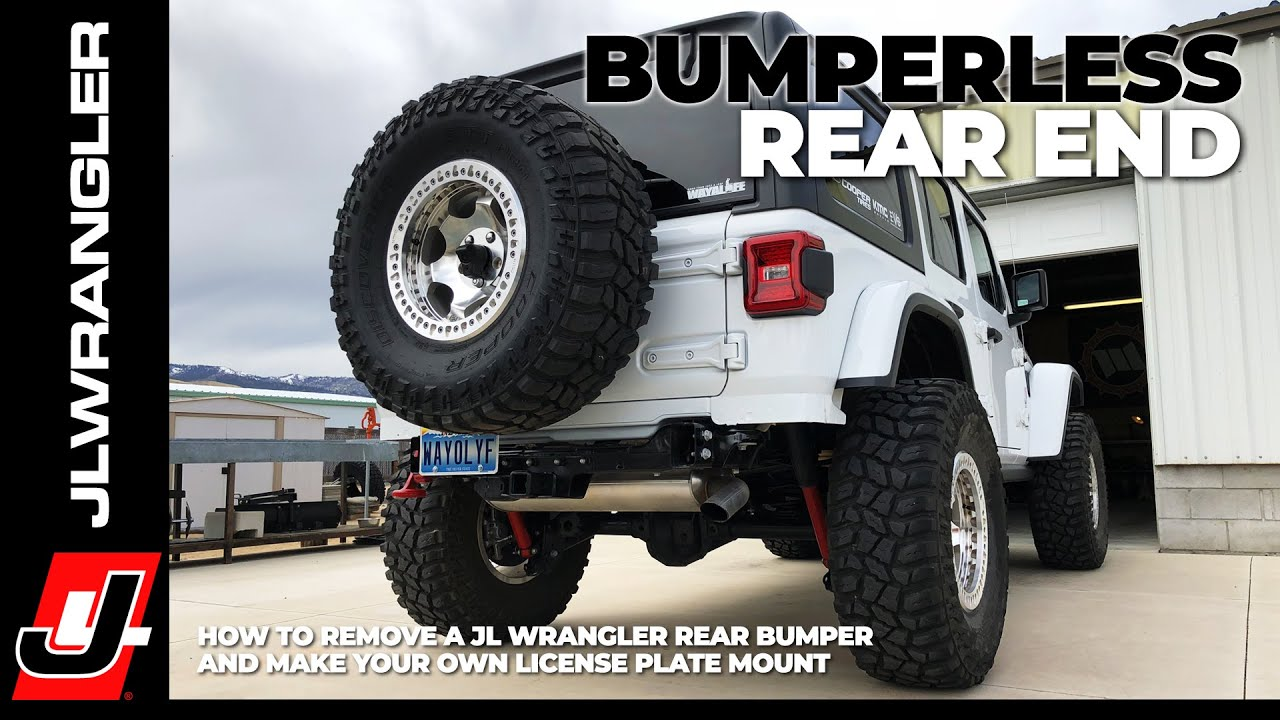 Jeep Jl Wrangler Rear Bumper Removal For Bumperless Look